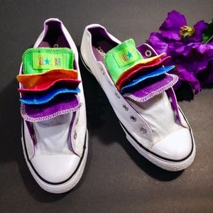 Rainbow Tongue Sneakers Size